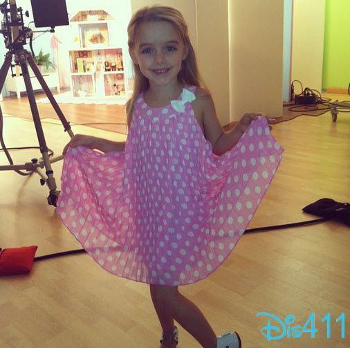 Mckenna Grace Pretty In Pink April 23, 2013
