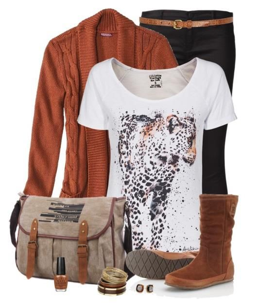 Trendy Brown Outfit for Fall