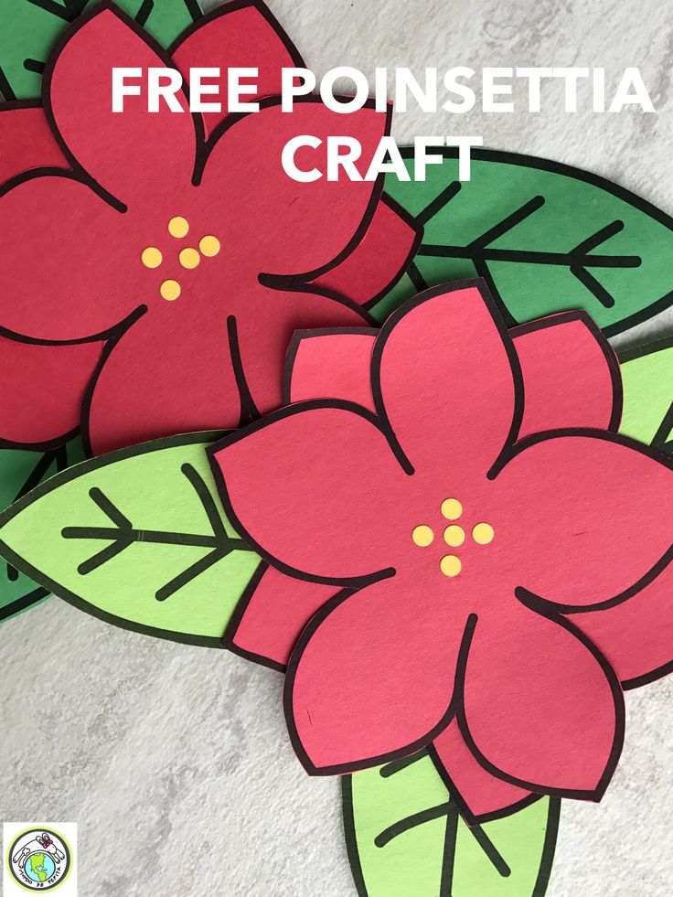 FREE Paper Poinsettia craft for Las posadas and/or la Navidad Christmas Mundo de Pepita, Resources for Teaching Spanish to Children