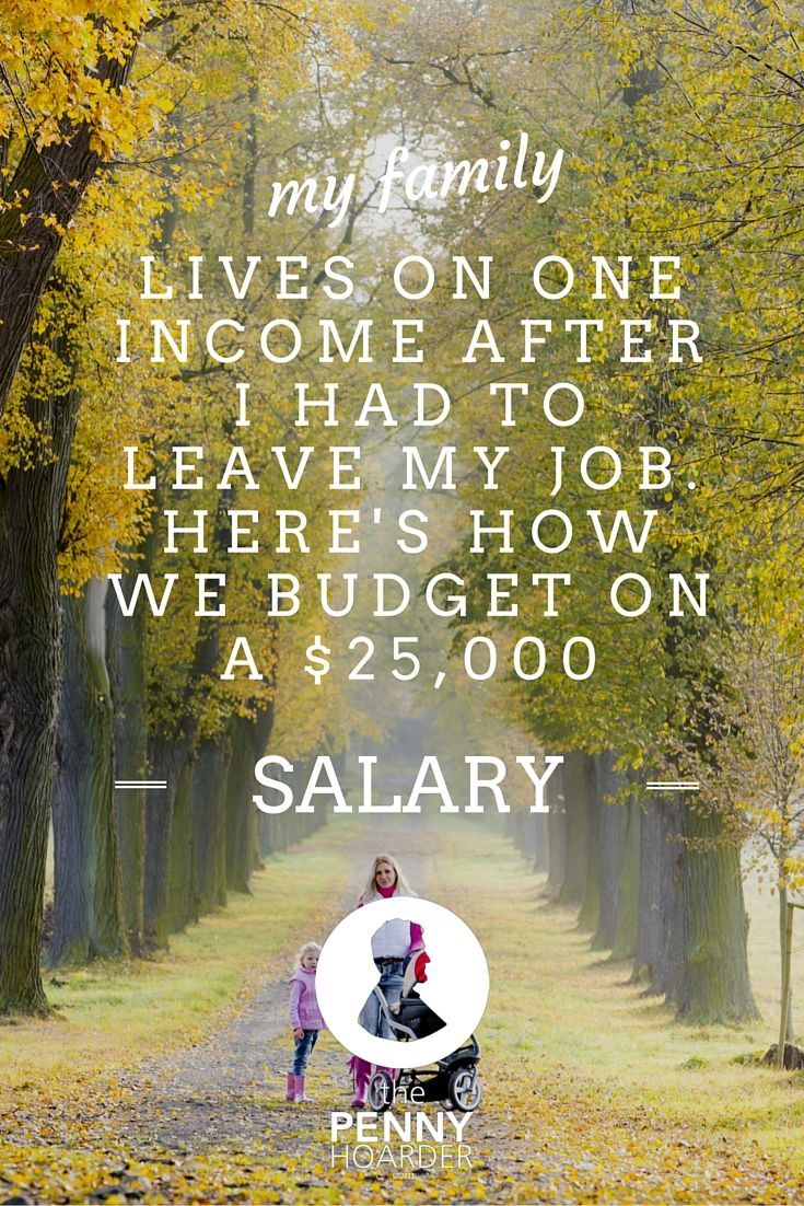 After being diagnosed with anxiety and depression, I left my job, and my family began surviving on one income. Here's how we manage to save on a $25,000-a-year salary. - The Penny Hoarder http://www.thepennyhoarder.com/surviving-on-one-income-25000-salary/