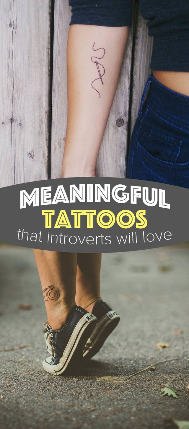 These beautiful tattoos are simple but they make a big statement. Perfect for introverts (or anybody who loves minimalism)
