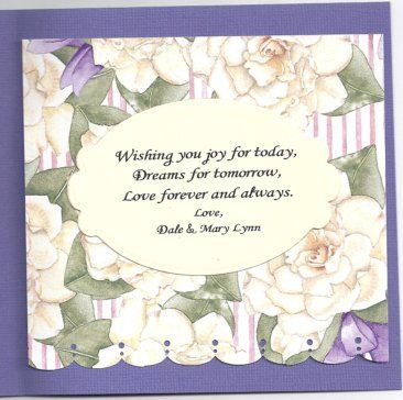393 best Wedding and Anniversary cards images on Pinterest