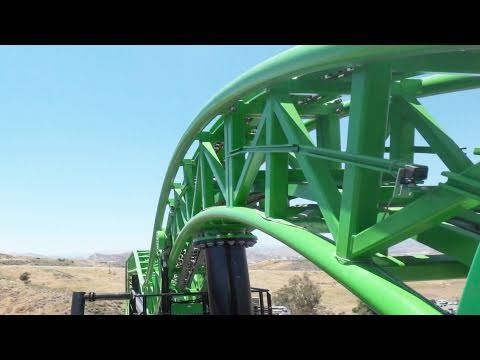 Green Lantern: First Flight! On-Ride (HD POV) Six Flags Magic Mountain California Roller Coaster