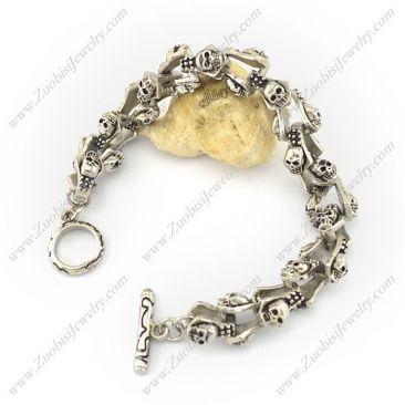 b003978 Item No. : b003978 Market Price : US$ 105.90 Sales Price : US$ 10.59 Category : Skull Bracelet