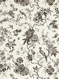Behang, Engels bloemen en vogels
