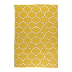 "Living room? Wrong yellow? $199 5'7"" x 7'10"" STOCKHOLM Rug, flatwoven, net pattern, yellow - IKEA"