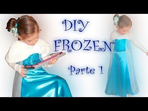 1.Disfraz Frozen – hacer patrón vestido – Curso de costura