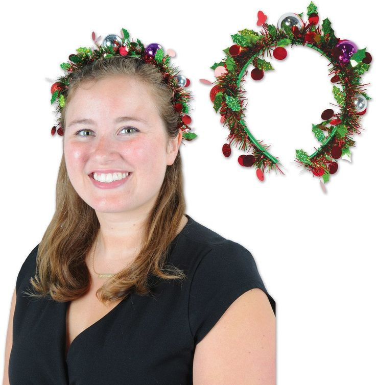 Holiday Tinsel Garland Headband