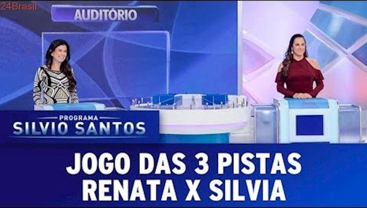 Jogo das 3 Pistas - Renata Abravanel X Silvia Abravanel | Programa Silvio Santos (29/10/17)
