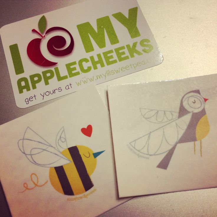 AppleCheeks temporary tattoos $1