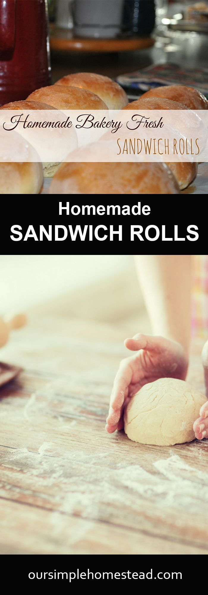 Homemade Sandwich Rolls - These hearty homemade sandwich rolls are becoming a staple for my family! We are loving them for any kind of sandwich, but they work the best for homemade sloppy joes and hamburgers.