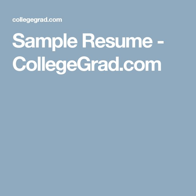 Sample Resume - High School Student - Academic Jared Pinterest - sample college grad resume