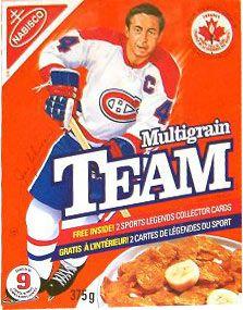 Jean Beliveau Nabisco cereal box | Montreal Canadiens | NHL | Hockey