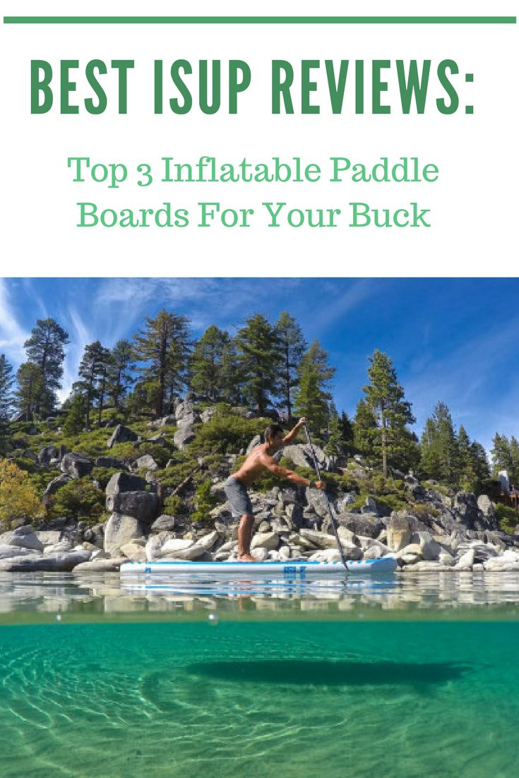 Looking for the best iSUP to get started paddle boarding? Find out the 3 best inflatable paddle boards on the market today!