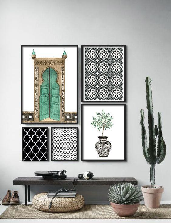 Morrocan Art Series : PRINTABLE FILE Morrocan decor, Morroco wallpaper, arabic art, middle eastern decor, morrocan tile, morrocan pattern