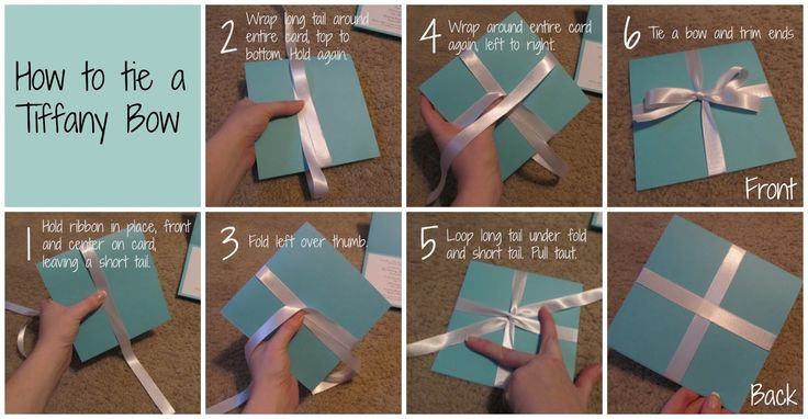 A Tiffany & Co Bridal Shower: How to tie a Tiffany Bow