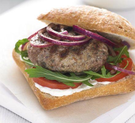 Rosemary & garlic lamb burgers recipe - Recipes - BBC Good Food