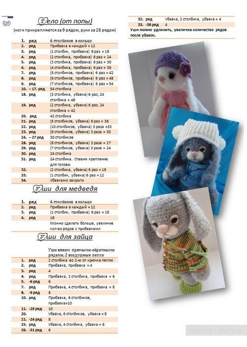Авторские игрушки Новоселовой Светланы - мастеркласс, вязание крючком
