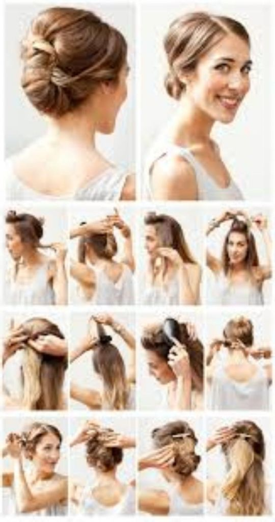 Fast Easy Updos For Medium Length Hair. Medium Hairstyle For Round Face Ideas Daily