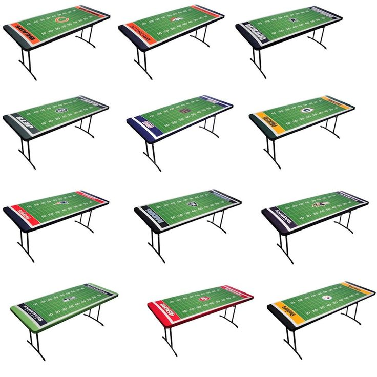 NFL TABLE TOPIT TABLE COVER ELASTIC BANDS KEEP IT SNUG! HASSLE FREE!