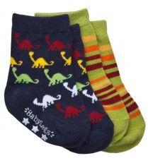 BabyLegs Organic Socks for little feet - Jurassic Stripe
