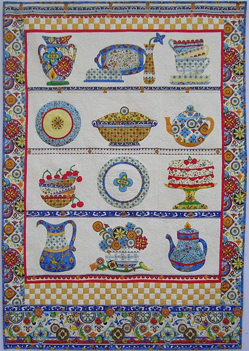 China cupboard quilt by Pati Fried:
