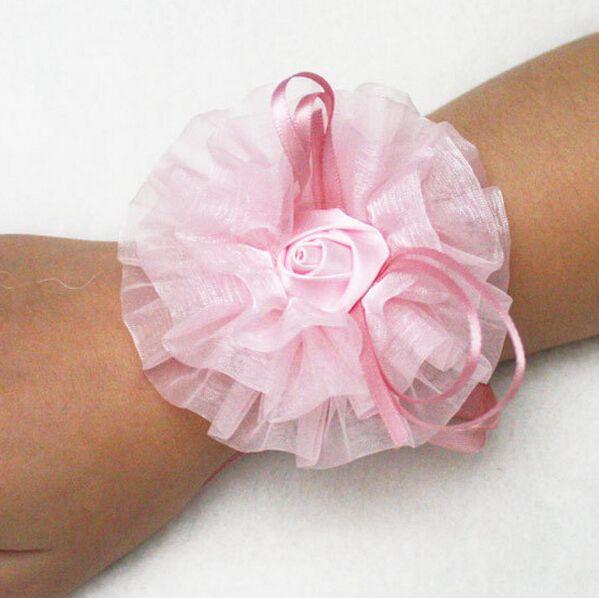 Дешево!!! мода Ленты браслет цветы свадебный браслет красоты букет невесты аксессуары невесты запястье браслет оптовая