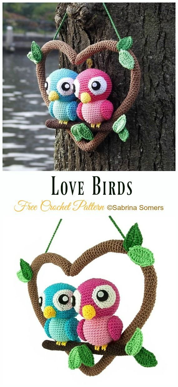 27 Free Crochet Bird Patterns You'll Love ⋆ DIY Crafts   1240x570
