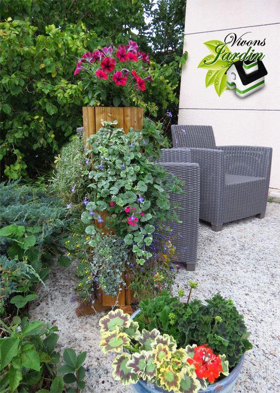 Jardin Vertical Tour A Fleur Bac A Fleurs Retombantes Deco