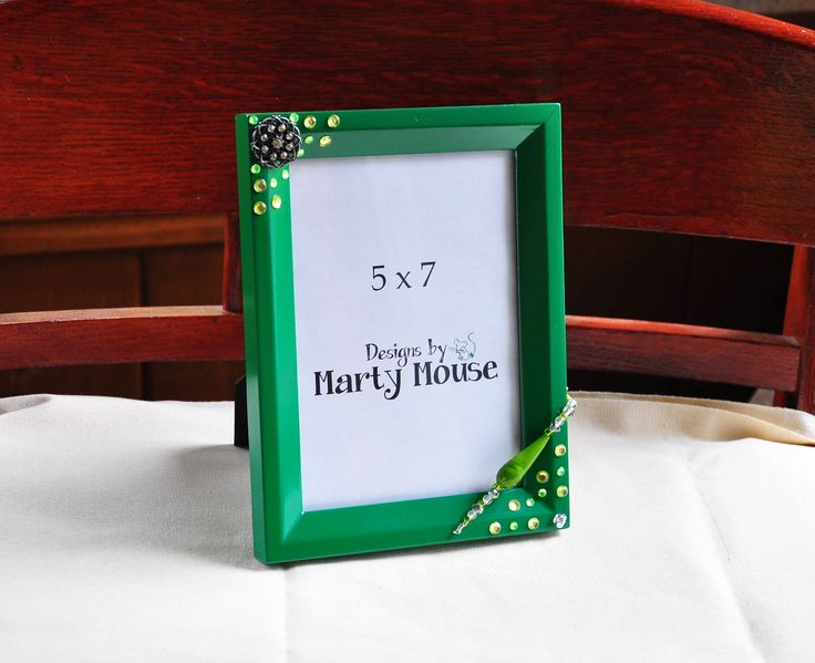 Picture Frame/Green Picture Frame/5x7 Frame/Fantasy Frame/Green 5x7 Frame/Irish Picture Frame/St. Patrick's Day/Fairy Picture frame/Green by Designsbymartymouse on Etsy