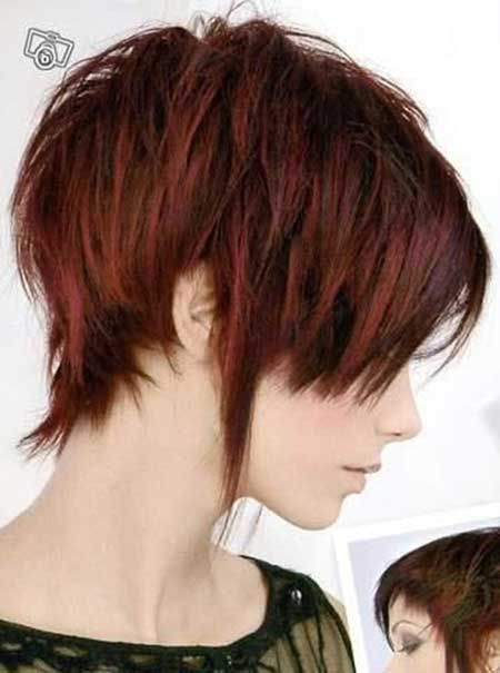 Cherry Red Hair with Ash Brown Highlights