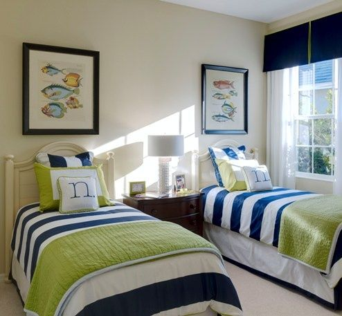 A Heartful Home: {31 Days of Coastal Style} Coastal Color Schemes: Nautical Navy