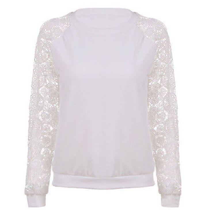 Nuevas Sudaderas Con Capucha de Encaje Dulce Casual Mujeres Sweatershirt Pullover Géneros de Punto de Manga Larga Mujer Blanca