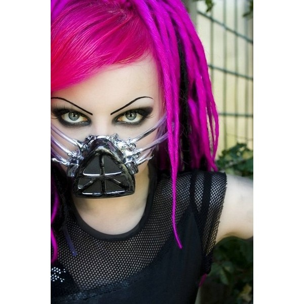 I must diy this mask oh yes :D Goth, Cyber, Industrial ...