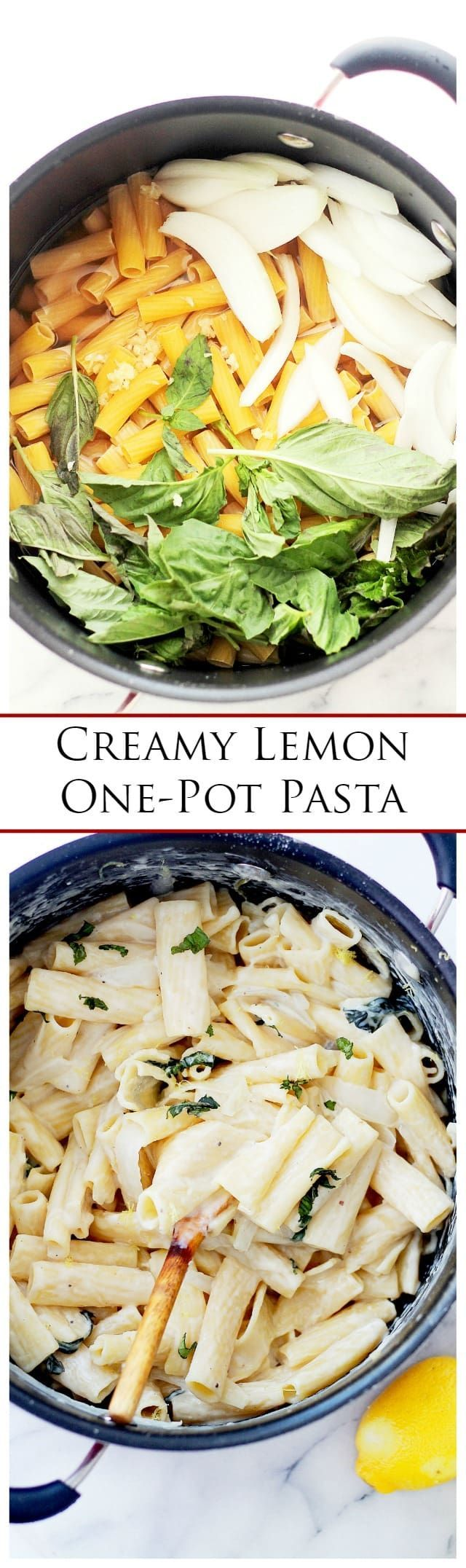 Creamy Lemon One-Pot Pasta | www.diethood.com | The delicious combination of lemon and cream cheese is spot-on for this easy weeknight one-pot pasta dinner.