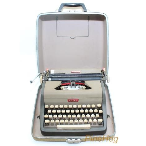 For Sale: Antique Royal McBee Aristocrat Manual Portable Typewriter w/Case Working
