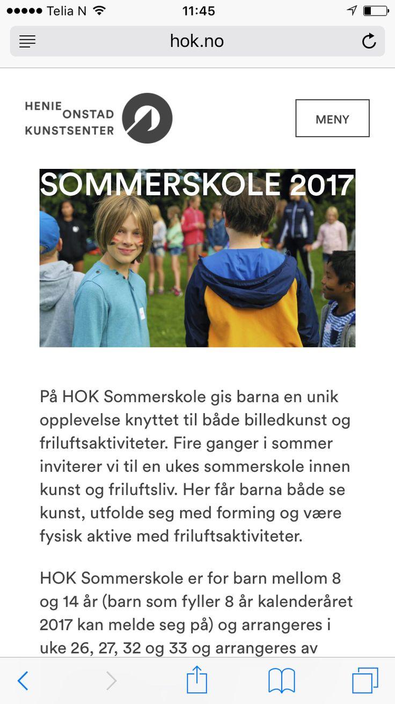 http://hok.no/arrangement/sommerskole-2017