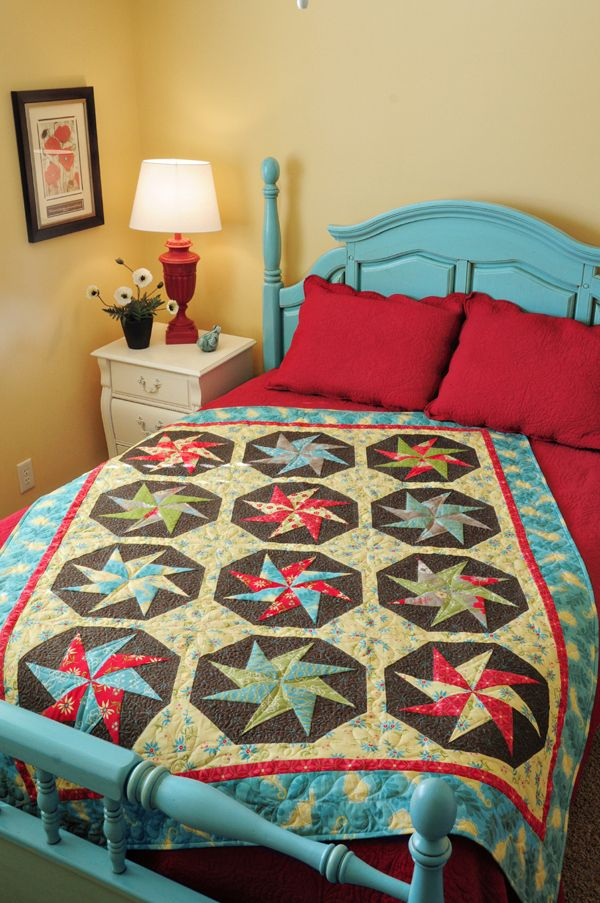 Yellow for basement?  Love the quilt too!