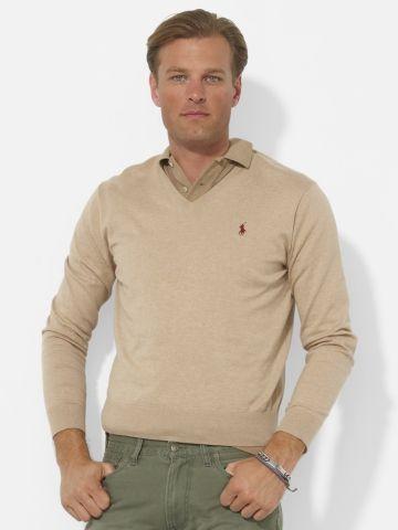 Pima Cotton V-Neck Sweater - Polo Ralph Lauren V-Neck - RalphLauren.com