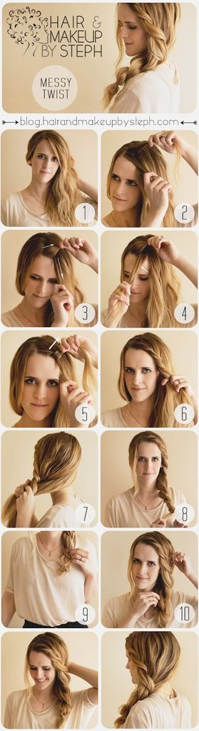 Tuto coiffure torsadée