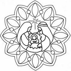 * Mandala: Kindje Jezus Would like to try as applique quilt pattern