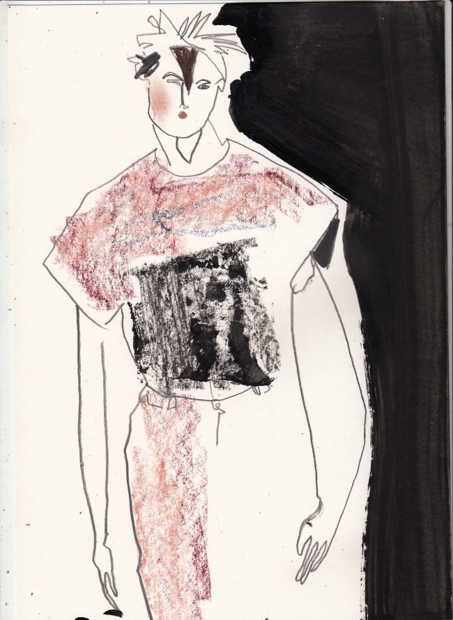 Helen Bullock illustrates the first day of London Collections: Men…