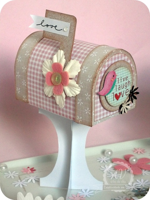 Cute Mailbox for School Valentine's Card Collection.