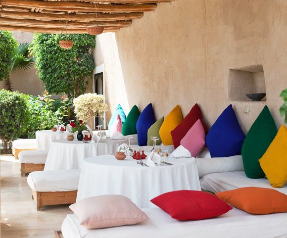 Tigmi hotel in Morocco.  They have yoga retreats here - see yoga on a shoestring.  There's one in May 2015.  Maybe put down a deposit...?