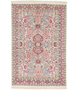 Kaschmir Seide Teppich Dieser Schöne Kaschmir Seide Teppich 00013452 Stammt  Aus Indien Und Hat Die Farbe Beige, Pink. Der Teppich Ist Aus Hochwertigem  ...