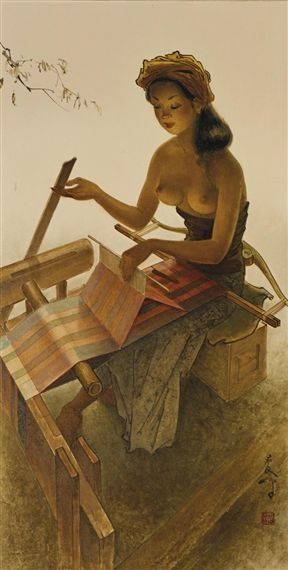 Lee Man Fong, weaving