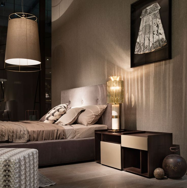 MADAMA bed, by Officinadesign Lema stands out for its soft and reassuring shapes, inspiring to utmost relax. On the sides, the new TIP night table by Daniel Debiasi and Federico Sandri with structure in thermo-treated oak. The new TIP collection is a proposal characterized by a modern and essential language. Lema S.p.A. Salone del Mobile, Design Week 2016
