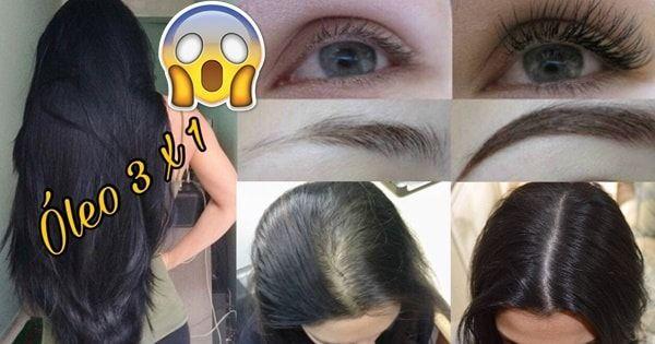 Óleo para crescer cabelo, dar volume aos seus fios, além de ajudar no crescimento de cílios e sobrancelhas.Receita caseira que funciona.