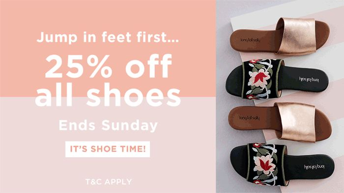Long Tall Sally USA & Canada: 25% off all shoes