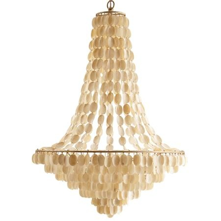 Shell Bell Basket Chandelier: Dining Room, Shells, Beach House, Lighting, Iron Shell Chandelier, Chandeliers, Southampton Large, Arteriors Southampton